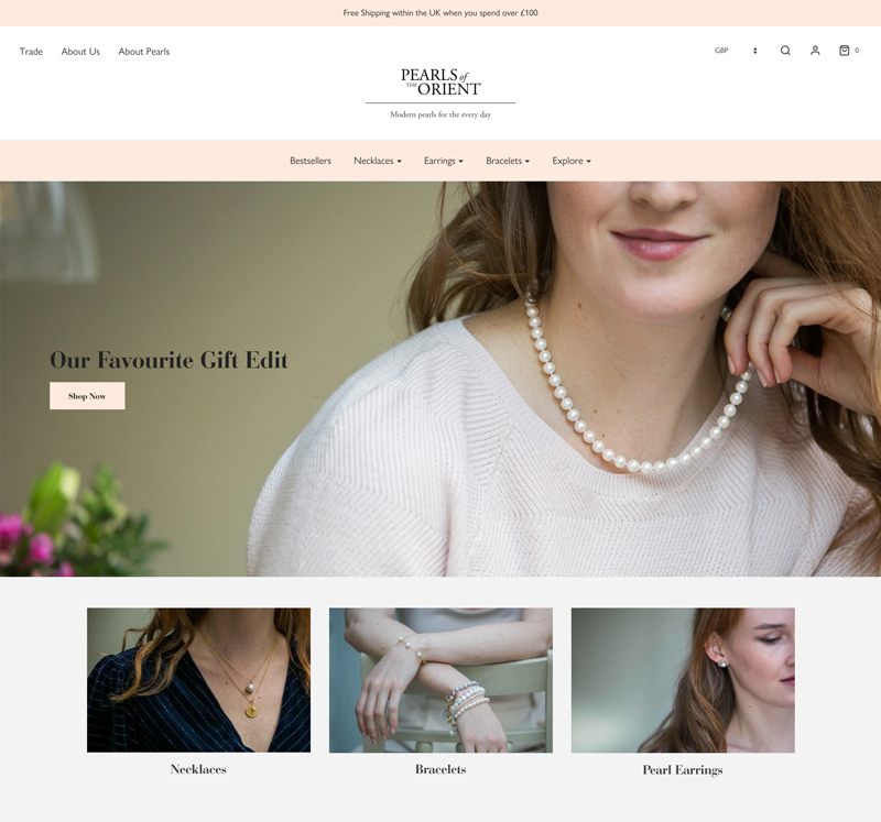 Pearls of the Orient Online website